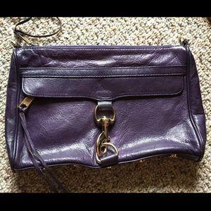 Rebecca Minkoff Leather eggplant bag clutch purse